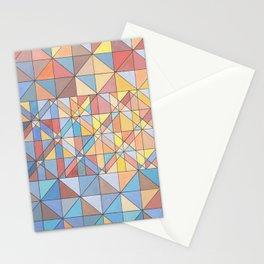 Triangle Pattern no.16 Pastels Stationery Cards