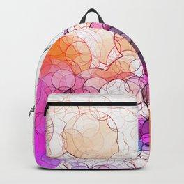 Geometric / Circular Landscape Art Backpack
