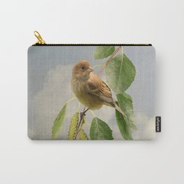 Indigo Bunting on Birch Tree Carry-All Pouch