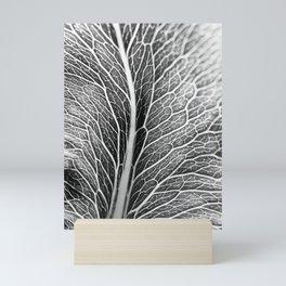 Black And White Leaf Mini Art Print