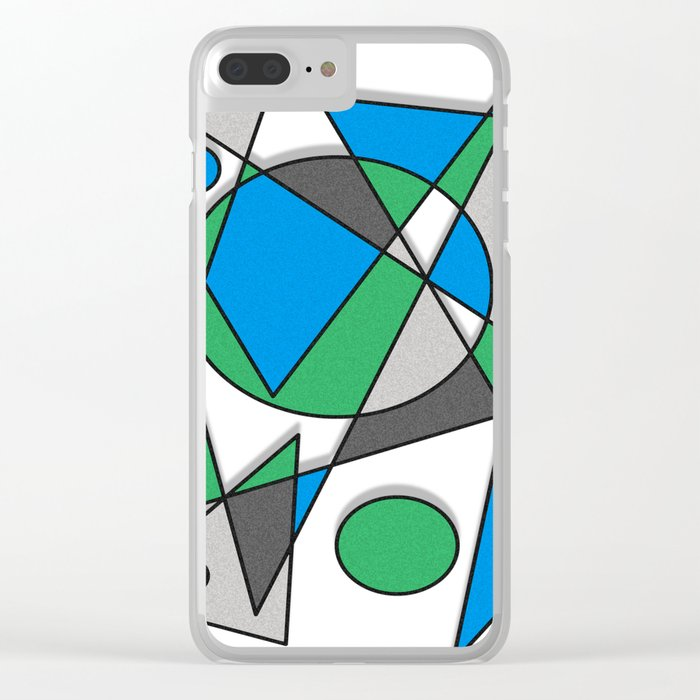 Abstract #83 Clear iPhone Case