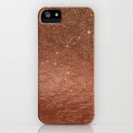 Elegant modern fax rose gold glitter iPhone Case