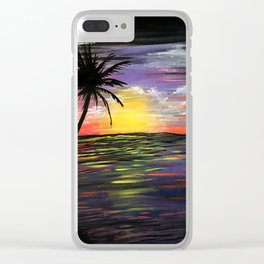 Sunset Sea Clear iPhone Case