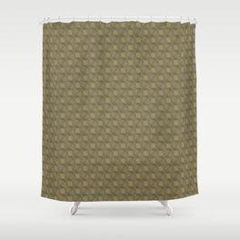Bronze art deco metal circles Shower Curtain