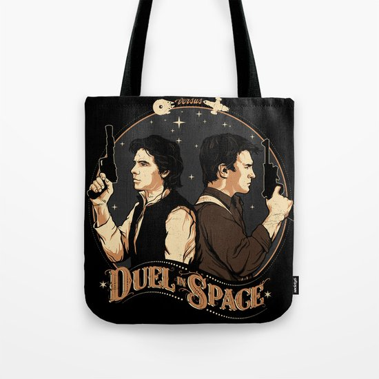 Duel in Space Tote Bag