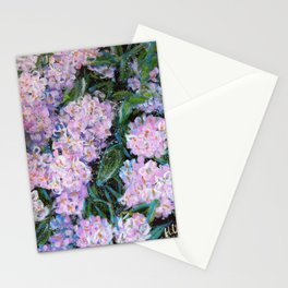 BLESSEDNESS -HYDRANGEA 1- Original abstract floral painting by HSIN LIN / HSIN LIN ART Stationery Cards