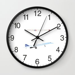 Concorde Turbojet-powered Supersonic Airliner Wall Clock