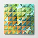 Abstract Geometric Tropical Banana Leaves Pattern by oursunnycdays