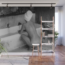 Bath in Paris, Cold Water Flat, Female Nude black and white art photography / photograph Wall Mural