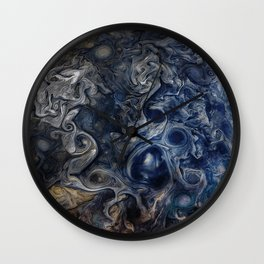 Jupiter Blues Wall Clock