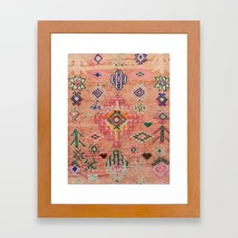 Moroccan Berber Traditional Carpet Framed Art Print