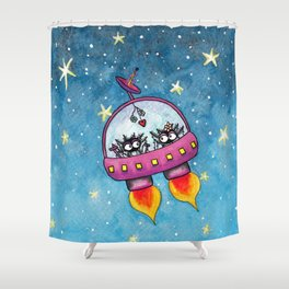 Space Lovers Shower Curtain