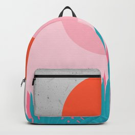 Watercolor tropical leaf I Backpack