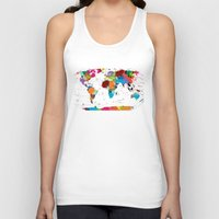 map Tank Tops featuring map by ron ashkenazi