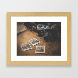 TRAVEL AROUND THE WORLD Framed Art Print