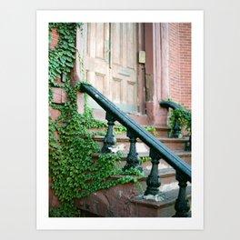 Boston Brownstone Art Print