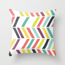 Rainbow ziggy Throw Pillow