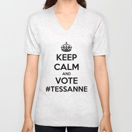 Keep Calm & Vote #Tessanne Unisex V-Neck