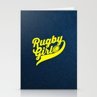 rugby Stationery Cards featuring RUGBY by solomnikov