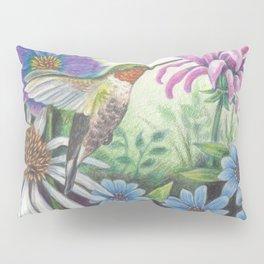 Hummingbird and Bergamot Pillow Sham