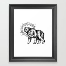 Bear Queen Framed Art Print