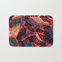 Red tropical Bath Mat