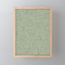 She's Green Framed Mini Art Print