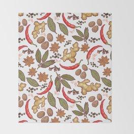 Spices pattern. Throw Blanket