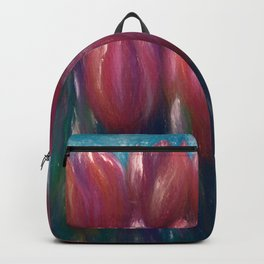 Colorful Tulips by Lena Owens Two-Lips :) Backpack