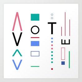 Vote Baby Vote 031316 Art Print