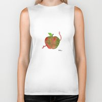 apple Biker Tanks featuring Apple by Phil McAndrew