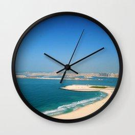 Dubai - Jumeirah Beach Coastline Wall Clock