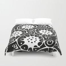 Black and White Swirl Pattern Duvet Cover