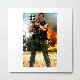Arnold Rocket Launcher Iphone case schwarzenegger Metal Print