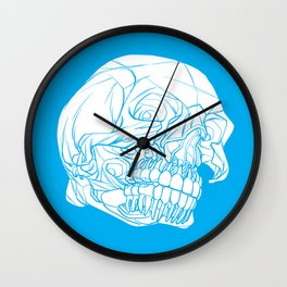 Skull Deconstructed Wall Clock