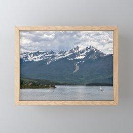 Speed Boat And Sailboat On Lake Dillon Framed Mini Art Print