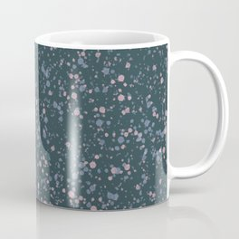 Denim Blue + Pink Splatter Print Coffee Mug