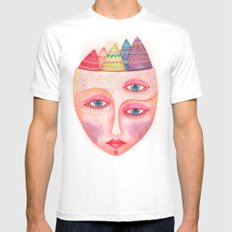 girl with the most beautiful eyes mask portrait White Mens Fitted Tee MEDIUM