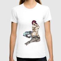 bondage T-shirts featuring Bondage Girl by Blue Muse Galaxy