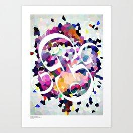 Perception Experiment 001 Garamond Art Print