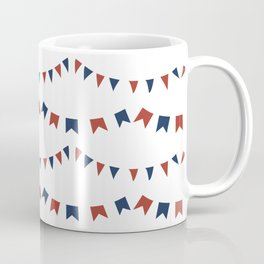 Summer Fun Flag Illustration in Red, White, and Blue Coffee Mug