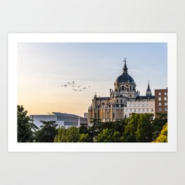 Almudena cathedral of Madrid Art Print