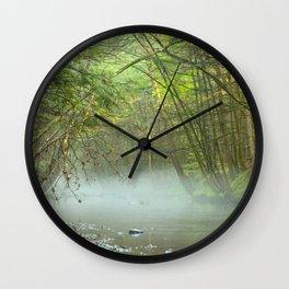 Misty River Wall Clock