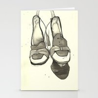 shoes Stationery Cards featuring Shoes by Zoe Jackson