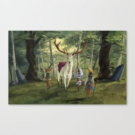 Seers Isle: The White Stag Canvas Print