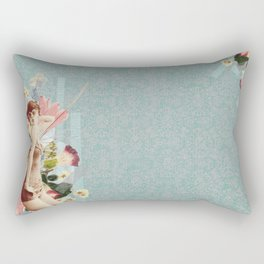 Feminine Collage III Rectangular Pillow