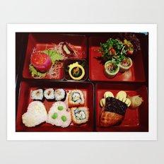 Cute Bento Art Print