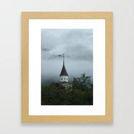 church in the woods Framed Art Print