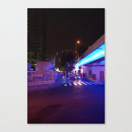 Night Time in Shanghai Canvas Print