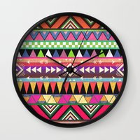 carpe Wall Clocks featuring OVERDOSE by Bianca Green